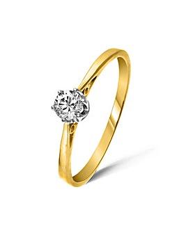 9ct Gold 0.2Ct Diamond Ring