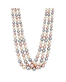 Jon Richard Triple Tone Pearl Necklace