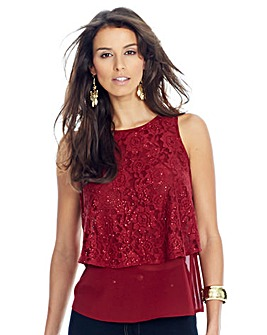 Lace Georgette Top