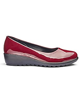 Cushion Walk Patent Shoes EEE Fit