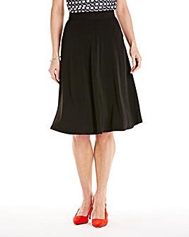 Black Flared Skirt L28in