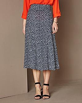 Jersey Print Maxi Skirt Length 32in
