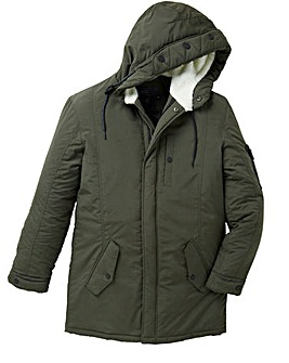 Label J Fleece Trim Parka Regular Length