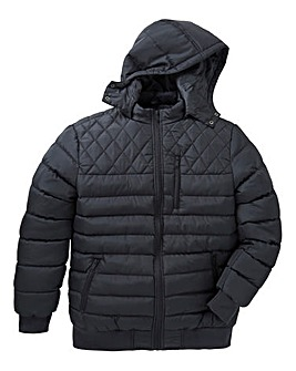 Label J Quilted Bomber Jacket Long