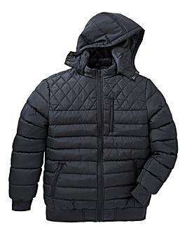 Label J Quilted Bomber Jacket Regular