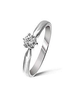18ct White Gold 0.25Ct Diamond Ring