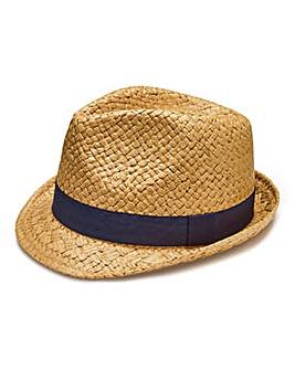 Label J Basket Weave Trilby Hat