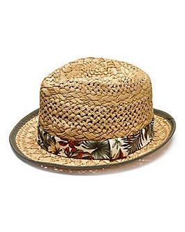 Label J Straw Trilby Hat