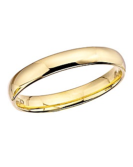 9 Carat Gold Court Shape Wedding Ring