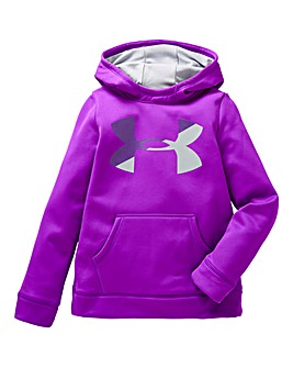 Under Armour Girls Fleece Logo Hoodie