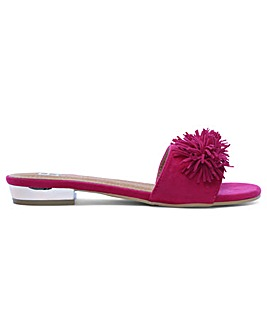 DF By Daniel Folly Pom Pom Flat Mules