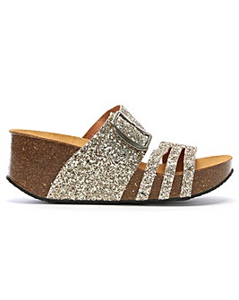 Daniel Dazzled Glitter Two Bar Mules