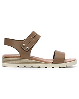 Daniel Likely Leather Low Wedge Sandals