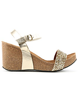 DF By Daniel Ryther Corked Wedge Sandal
