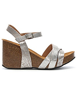 Daniel Beverlywood Glitter Wedge Sandal