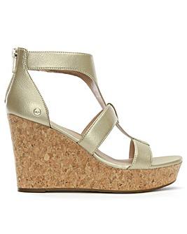 UGG Whitney Metallic Wedge Sandals