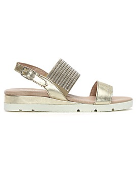 Daniel Lovell Metallic Jewelled Sandals