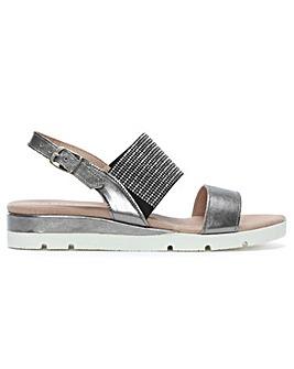 Daniel Lovell Metallic Jewelled Sandals