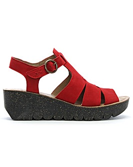 Fly London Suede Cleated Wedge Sandals