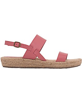 Brakeburn Rafia Sole Leather Sandal