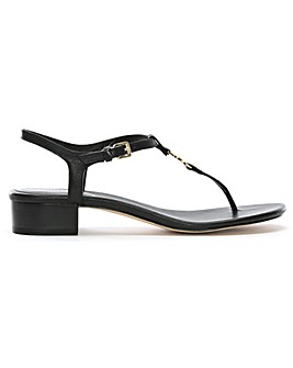 Michael Kors Leather Thong Block Sandals