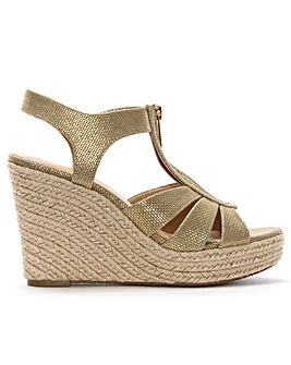Michael Kors Berkley Leather Wedges