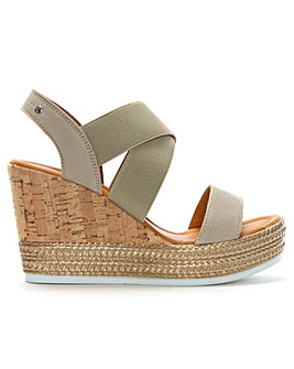 DF By Daniel Lasty Cork Wedge Sandals