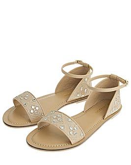 Accessorize Marissa Mirrored Sandals