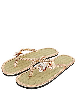 Accessorize Charmy Seagrass Flip Flops