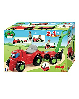 Ride On Tractor with Trailer & Lawnmower