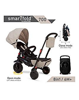 Smart Trike Folding 700 - Cream Grey
