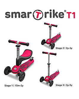Smart Trike Pink T1 Scooter