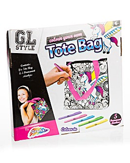 Colour Your Own Message Bag