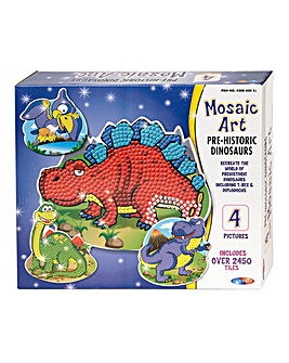 Mosaic Art Prehistoric Dino