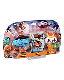 Mega Headz Triple Pack Stein Pan Tanuki
