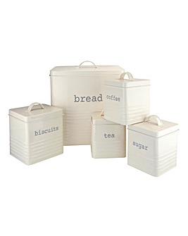 Kitchen storage Set 5pce Cream