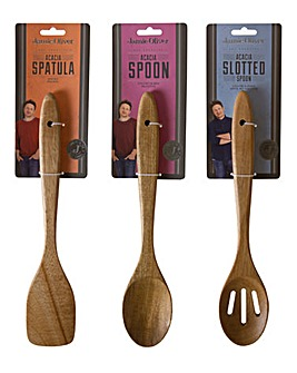 Jamie Oliver Acacia Wood 3PC Utensil Set