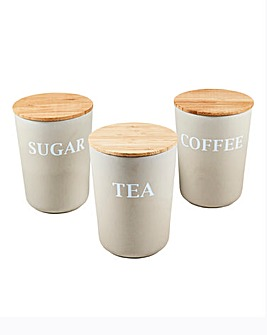 Natural Elements Bamboo 3 Canisters
