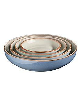 Denby Blues 4 Nesting Bowl Set
