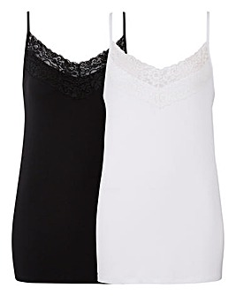 Pack 2 Lace Cami Vests