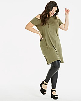 Cold Shoulder Short Sleeve Tunic