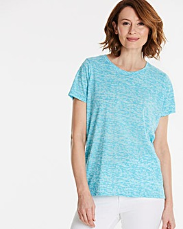 Aqua Burnout T-shirt
