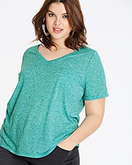 Jade Linen Blend T-shirt