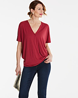 Short Sleeve Wrap Top