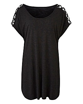 Petite Strappy Cold Shoulder Tunic
