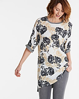 Woven Front Longline Tunic