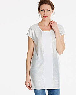 Metallic Colour Block Tunic