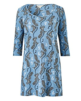 Petite Paisley Print Value Cotton Tunic