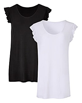 Pack of 2 Ruffle Sleeveless Tops