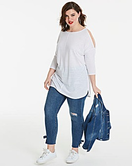 Linen Cold Shoulder Tunic